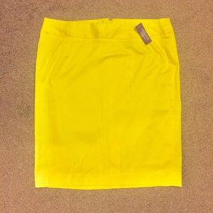 Lane Bryant Bright Yellow Pencil Skirt